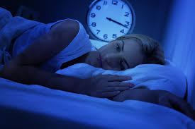 woman not being able to sleep