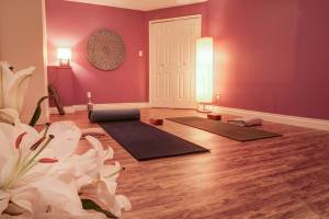 One-on-one yoga room